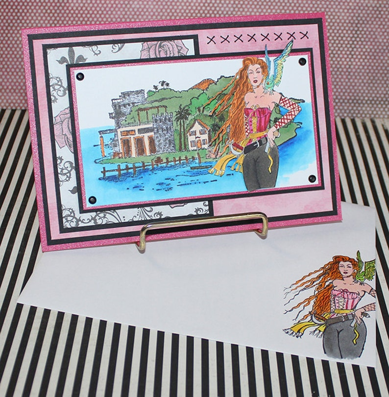 Pirate Island   Handmade Greeting Card image 0