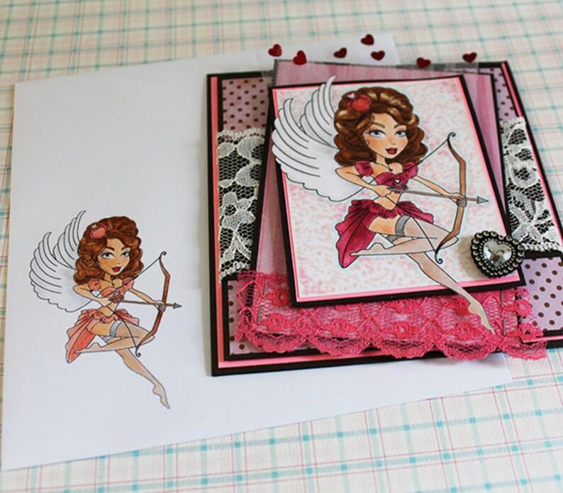Sexy Cupid  Handmade Greeting Card image 0