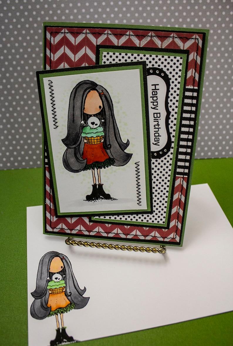 Gothic Birthday  Handmade Greeting Card image 0