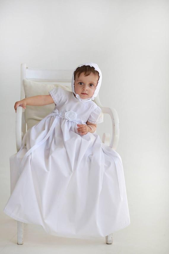Christening Gown Susanna with bonnet Christening dress Girls | Etsy