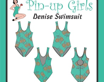Denise Swimsuit pattern by Pin Up Girls