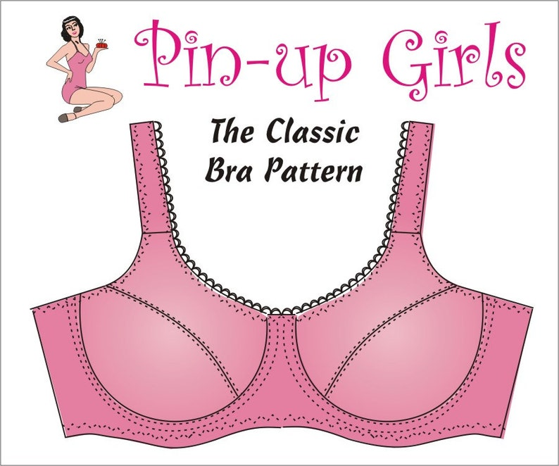 The CLASSIC Bra PATTERN A Pin Up Girls Original Pattern  02ae1e881b