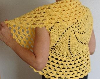 Crochet Pattern Circle Vest / Shrug, PDF Digital Crochet Pattern, Easy crochet pattern