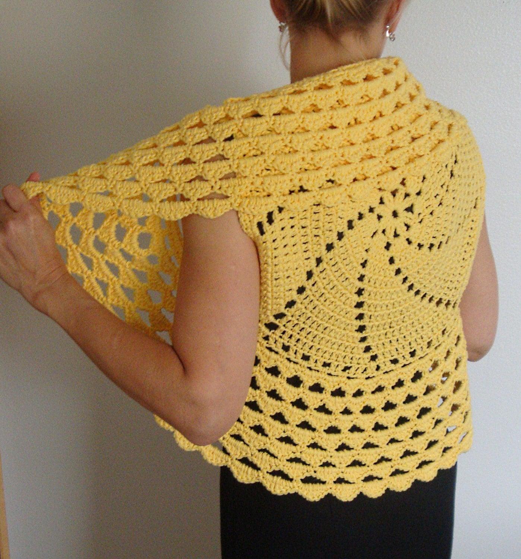 Crochet Pattern Circle Vest Shrug Pdf Digital Crochet Etsy