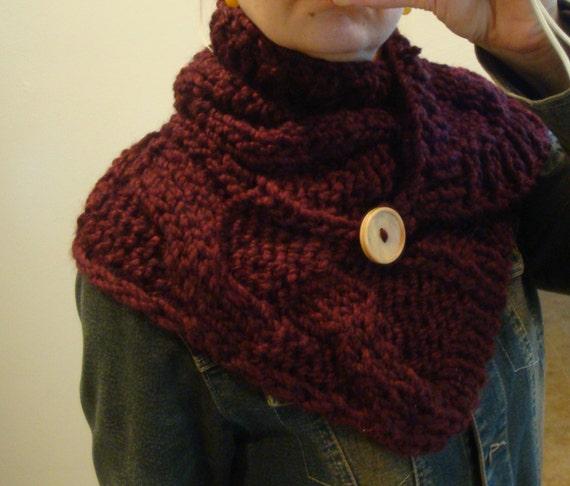 Easy Pattern Knitted Neck Warmer Scarf Digital Pattern Etsy
