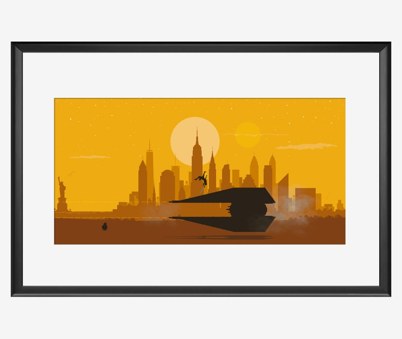 New York skyline Star Wars The rise of Skywalker inspired art. image 0