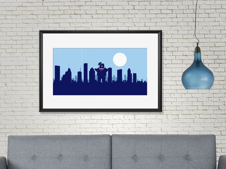 Houston skyline print Houston art Houston print Houston image 0