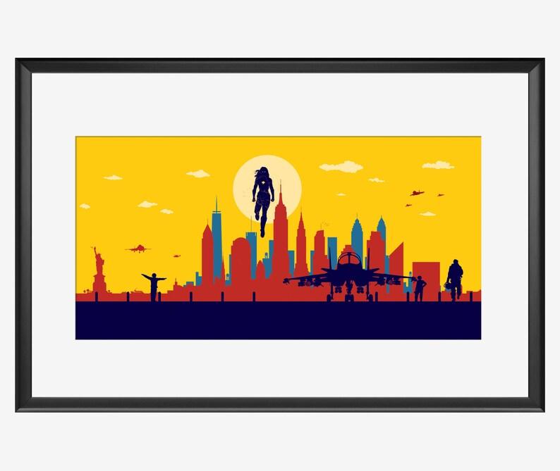 NEW YORK SUPERHERO print The Captain Captain Marvel inspired image 0