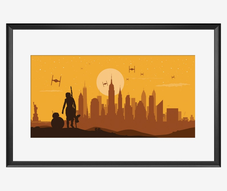 NEW YORK SKYLINE Star Wars Inspired Star wars art Star Wars image 0
