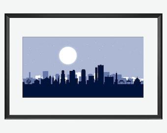 Cebu Skyline Print, Cebu art, Cebu print, Cebu poster, Cebu City, Cebu City Print, Cebu City art, Cebu Cityscape, Cebu City Philippines,