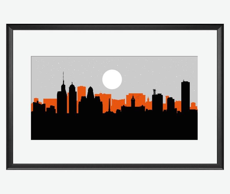 Buffalo Skyline Buffalo NY Buffalo art Buffalo print image 0