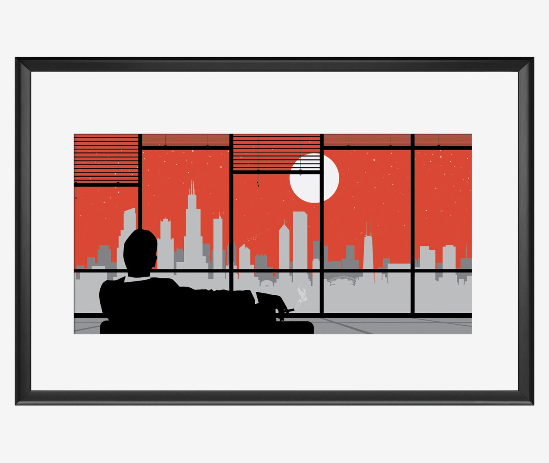 Chicago Skyline print Chicago poster Chicago art Chicago | Etsy