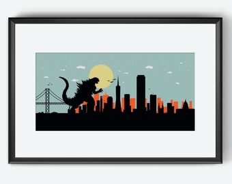 San Francisco art, San Francisco print, San Francisco map, San Francisco wall art, San Francisco poster, San Francisco Giants inspired color