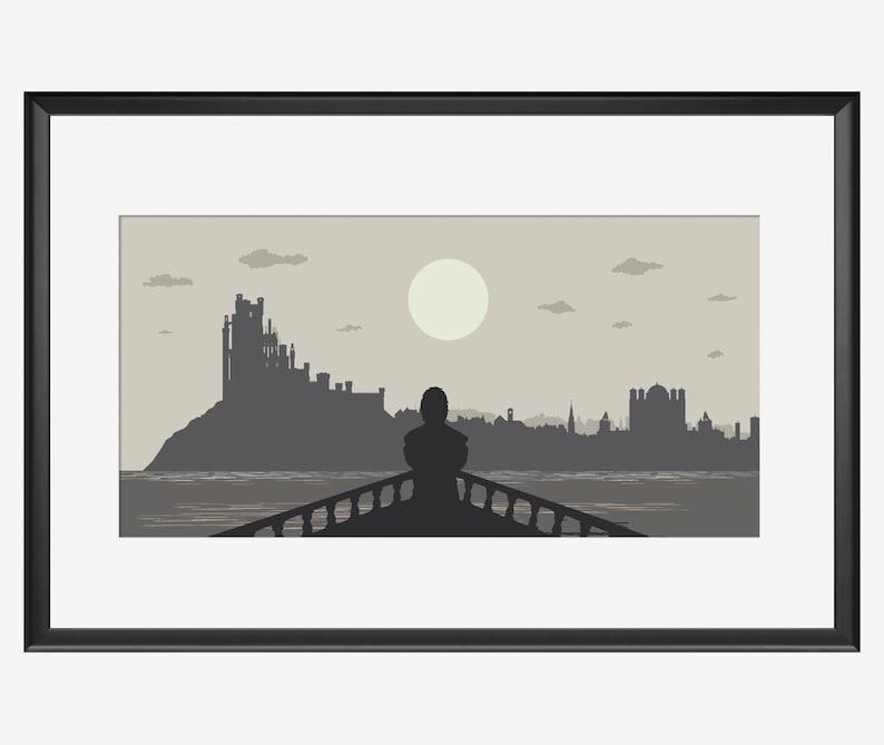 Kings Landing Skyline Kings Landing print Game of thrones image 0