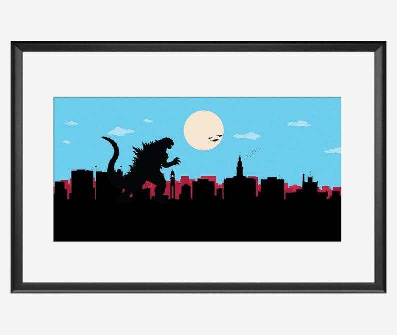 Dubuque skyline print Iowa cityscape art poster cityscape image 0
