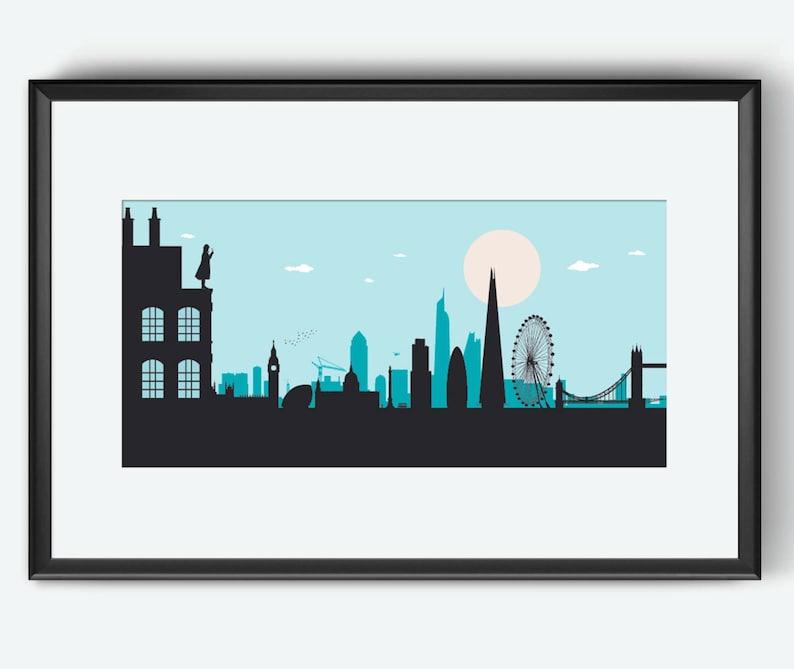 London Skyline London art London print London poster image 0