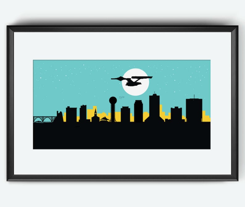 Knoxville Skyline Print Star Trek inspired print Knoxville image 0