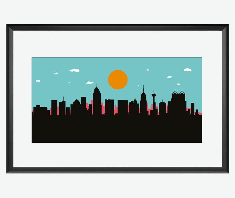 San Antonio Skyline San Antonio TX San Antonio art San image 0