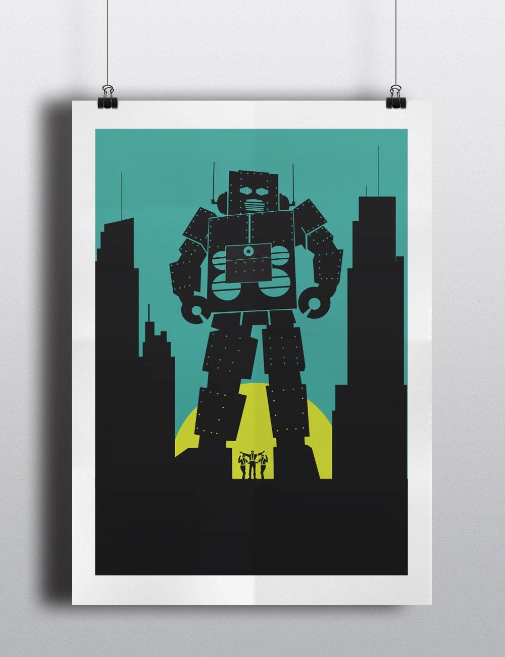 Beastie Boys Intergalactic robot inspired print Tokyo Japan | Etsy