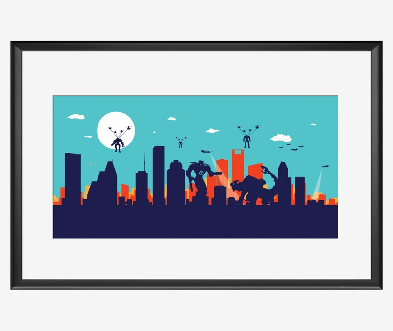 Houston Skyline Pacific Rim inspired by Skyworldproject image 0