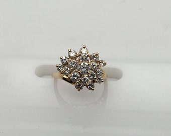 Fashion Diamond Cluster Ring