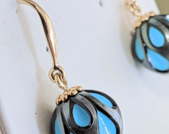 Handcrafted Cultured Pearl Earrings