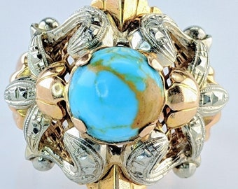 Estate Turquoise Lady's statement ring