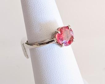 14KW Syn. Orange Sapphire Statement Ring