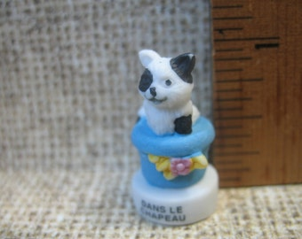 Kitten in a Hat  Cat Kitty - French Feve Feves Figurines Miniature