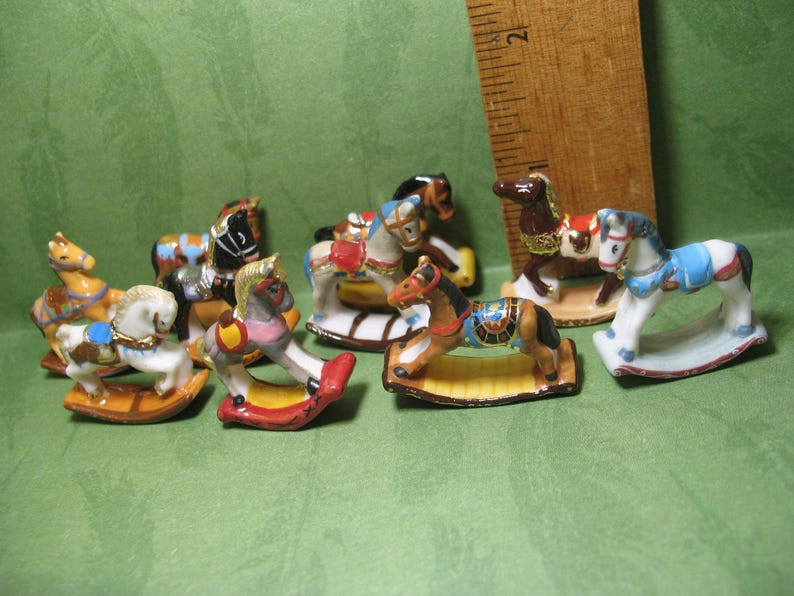Rocking Horse Sculptures Statues Carousel Horses Vintage Look image 0