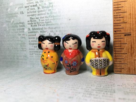 KIMMIDOLLS Kimmidoll Kokeshi Japanese Dolls Doll French Feves Figurine Miniature