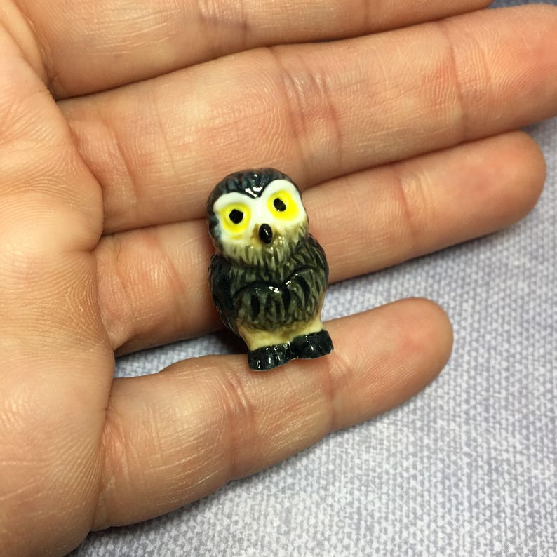 TINY OWLS Owl Wise Old Barn Forest Woods Birds Bird French ...