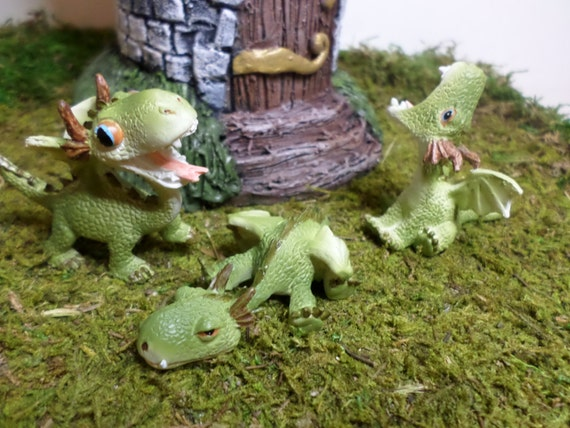 Miniature Dragons Fairy Garden Miniature Gardening Enchanted | Etsy
