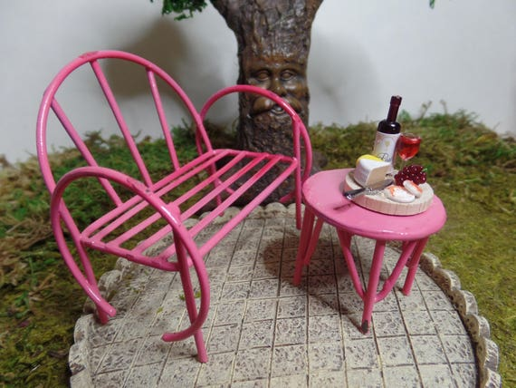 Pleasant Fairy Garden Furniture Bench And Table Miniature Gardening Container Gardening Terrarium Kit Miniature Furniture Indoor Garden Diy Paint Ibusinesslaw Wood Chair Design Ideas Ibusinesslaworg