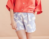 Squiggle Shorts - Lilac