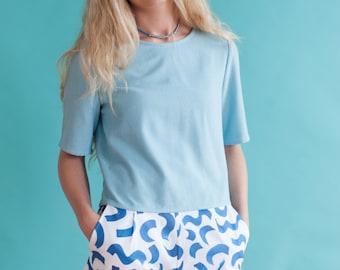 Squiggle Print Shorts