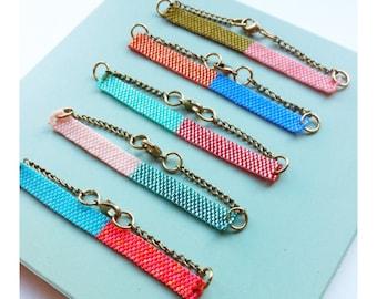New colour block bracelets