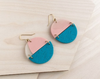 Cut Out Earrings - Teal