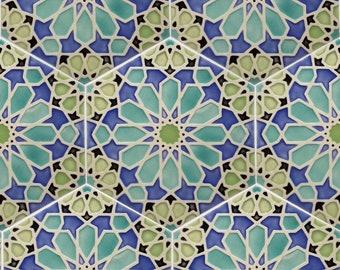 Moroccan Tiles - Kitchen Backsplash Tiles - Patio Tiles - Hand Painted Tiles - Bathroom Tiles - Kitchen Remodel - Moroccan Style - Ceramic