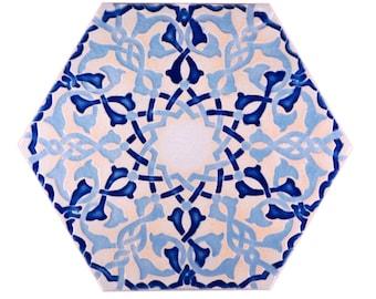 Moroccan Tiles - Kitchen Backsplash Tiles - Bathroom Tiles - Hand Painted Tiles - Stoneware Tiles - Patio Tiles - Moroccan Trivet