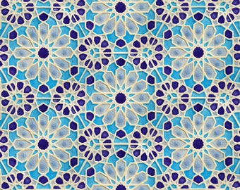 Hand Painted Moroccan Tiles - Bathroom Tiles - Ceramic Accent Tiles - Kitchen Backsplash Tiles - Decorative Tiles - Moroccan Coasters