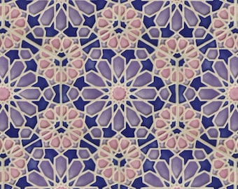 Hand Painted Moroccan Tiles - Ceramic Accent Tiles - Kitchen Backsplash Tiles - Decorative Tiles - Moroccan Coasters - Pastel Stoneware
