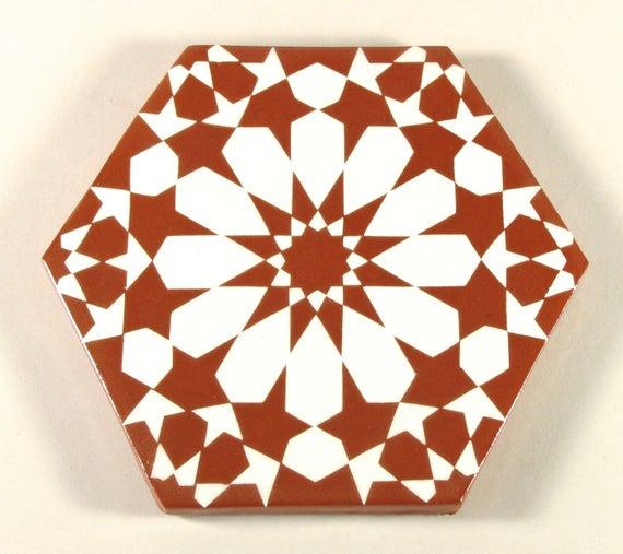 Marokkanische Fliesen Terracotta Fliesen Hand Bemalte Etsy