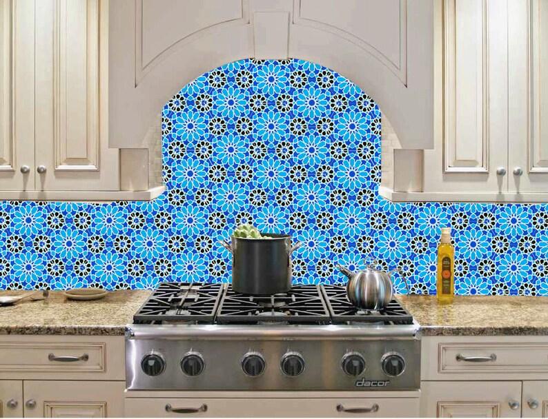 Piastrelle bianche e blu piastrelle marocchine piastrelle etsy
