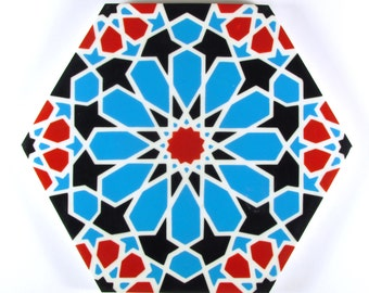 Hand Painted Moroccan Tiles - Ceramic Accent Tiles - Decorative Tiles  - Backsplash Tiles - Kitchen Tiles - Ceramic Tiles - Bathroom Tiles
