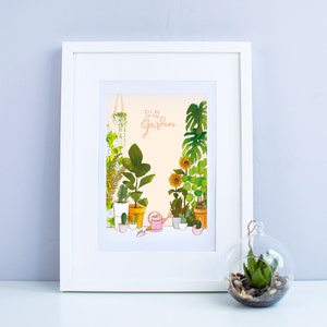 for gardeners and plant lovers Gardening Birthday Card \u2013 garden inspired square card