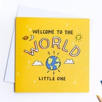 Baby card, congratulations card, new baby, new parents, welcome to the world, birth card