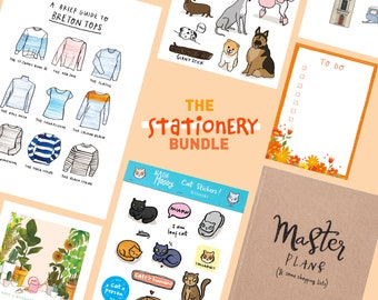 Stationery bundle, Gifts for stationery lovers, Stationery gifts, Gifts for friends, KatieMoodyArt