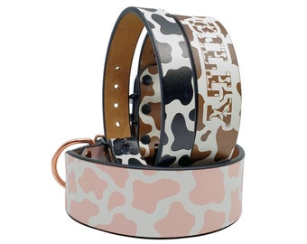 Fruit Dog Collar Green Leather Collar Rose Gold Hardware Adjustable Leather Collar MadcoW X Dog Berry Fields Strawberry Collar