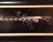Kel Tec KSG   CAT scan gun print - ready to frame